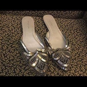 Kennth Cole Reaction sz 9.5 sparkle slip on flats